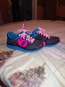 My new brightly colored running shoes!